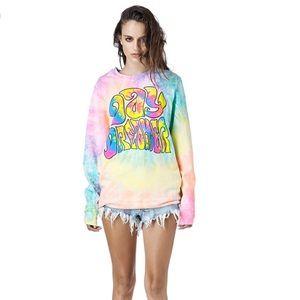 UNIF daydreamer tie dye sweatshirt size M